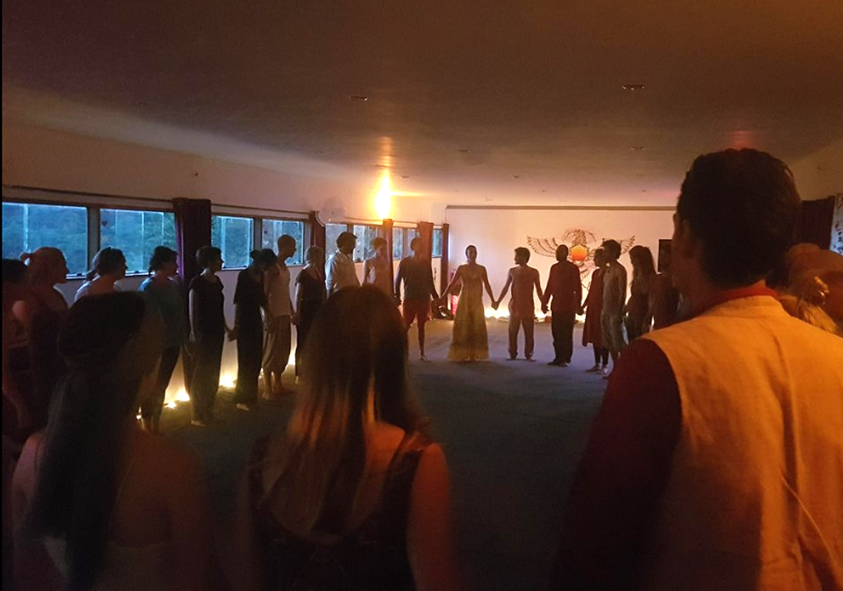 Ecstatic dance opening circle