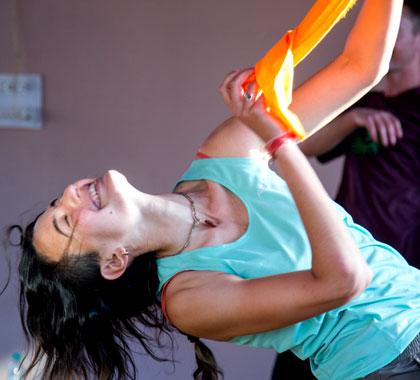 Ecstatic dance participant